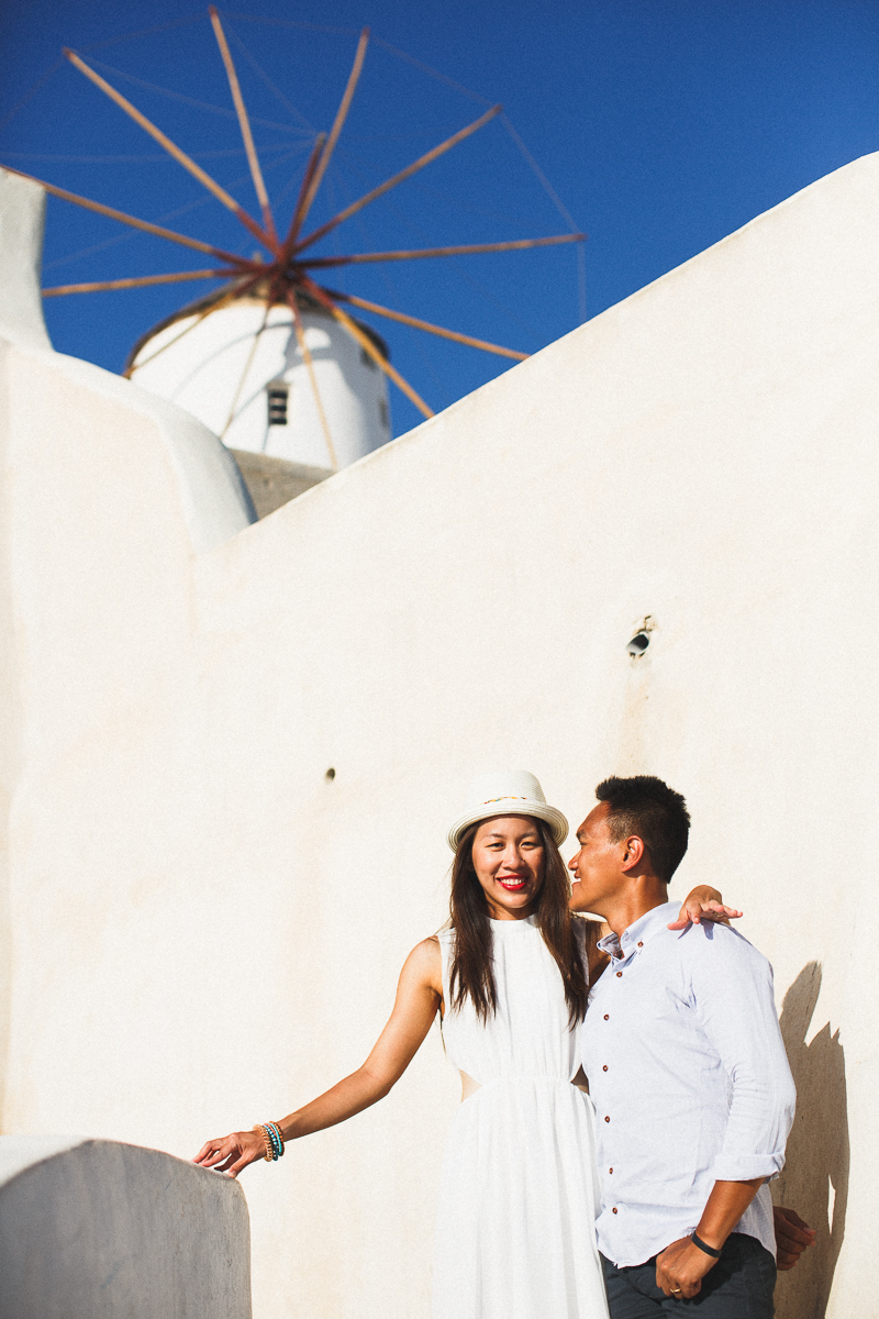 Honeymoon photoshoot, Oia, Greece, destination engagement photographer