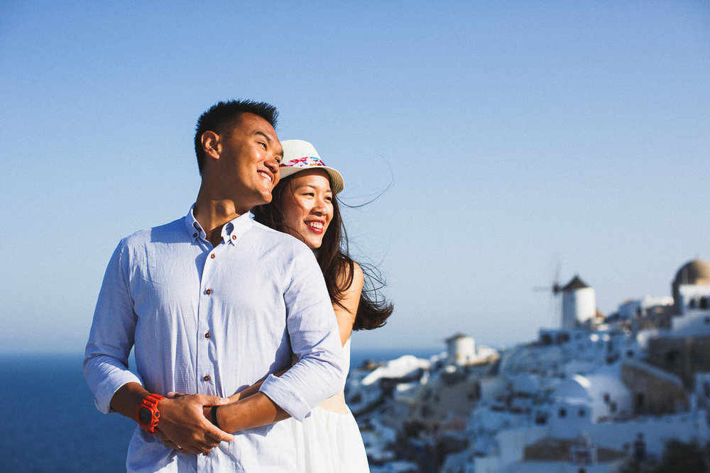 Honeymoon photoshoot, Oia, Greece, destination photographer