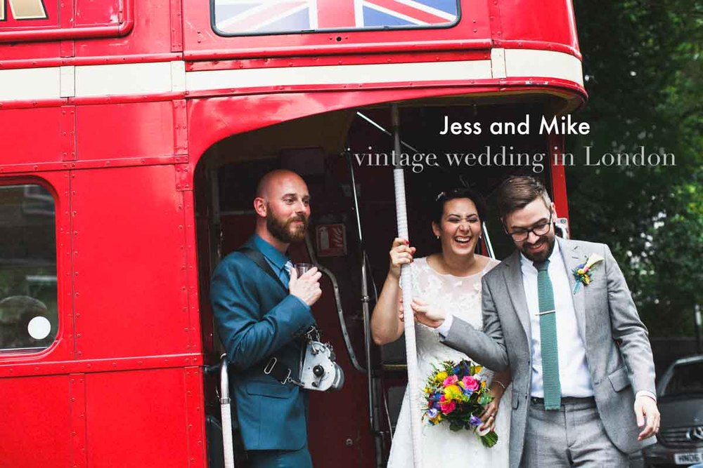 Vintage style wedding photography London