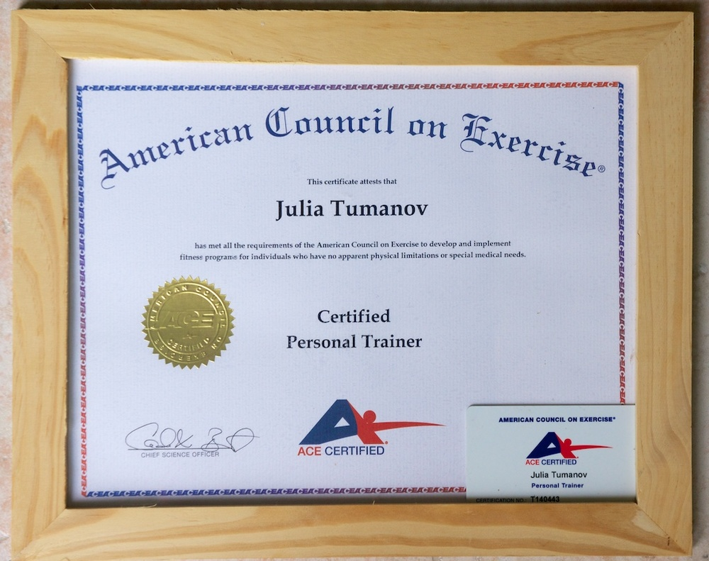 Certifications Fitnessj Personal Training