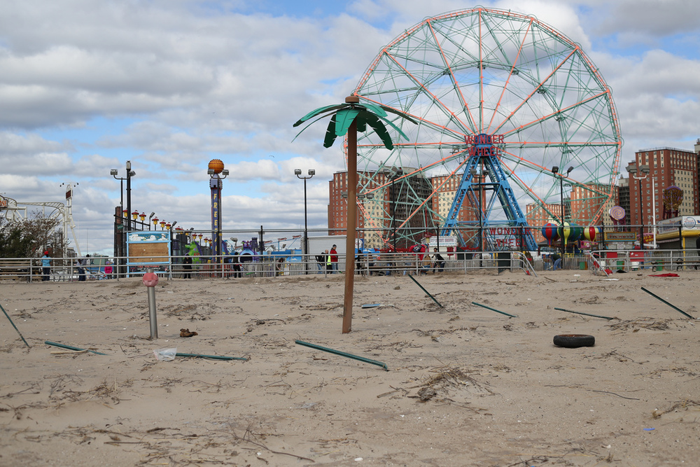 In Coney Island, a bit of a mess. Courtesy WarmSleepy, on Flickr.