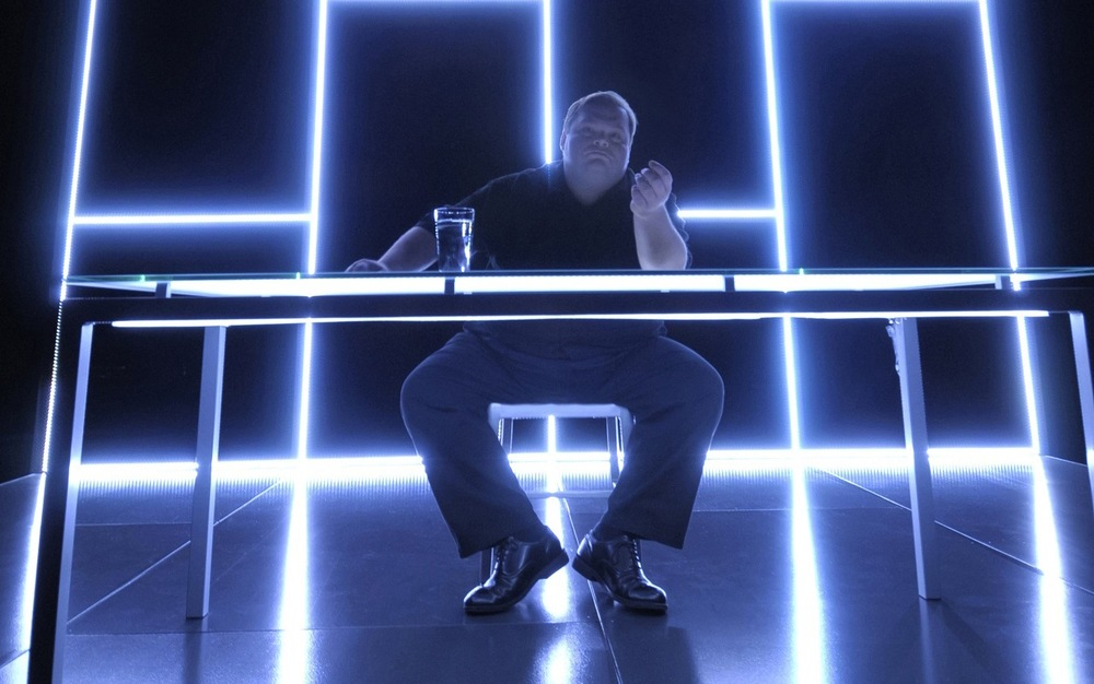 Mike Daisey in  The Agony And The Ecstasy of   Steve Jobs , the show that last winter gave him quite the little headache.  Courtesy Public Theater.