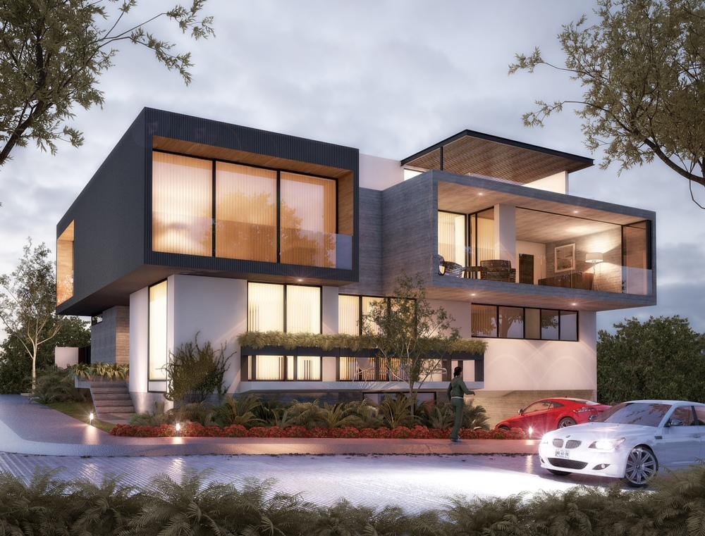 Proyectos en construcci n volta for Casas modernas renders