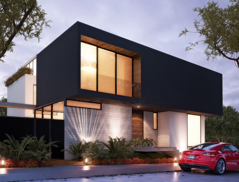 Proyectos en construcci n volta for Render casa minimalista