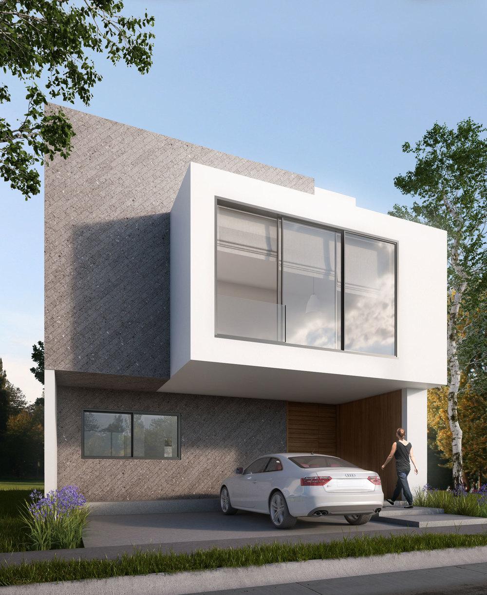 Tipo: Casa Habitación  Área de Construcción: 224.24 m2  Rendering: DOM Visuals   Inicio de obra: Abril 2016  Ubicación: Zapopan, Jal.