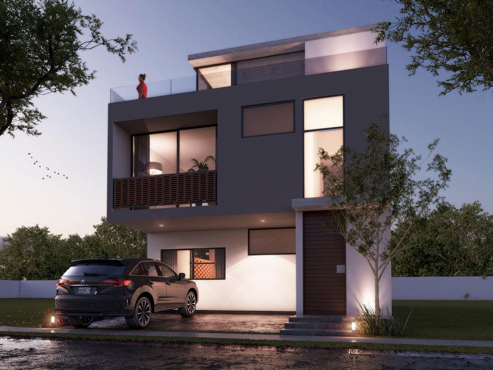 Tipo: Casa Habitación  Área de Construcción: 209 m2  Rendering: 3XTRUDE   Inicio de obra: Diciembre 2015  Ubicación: Zapopan, Jal.