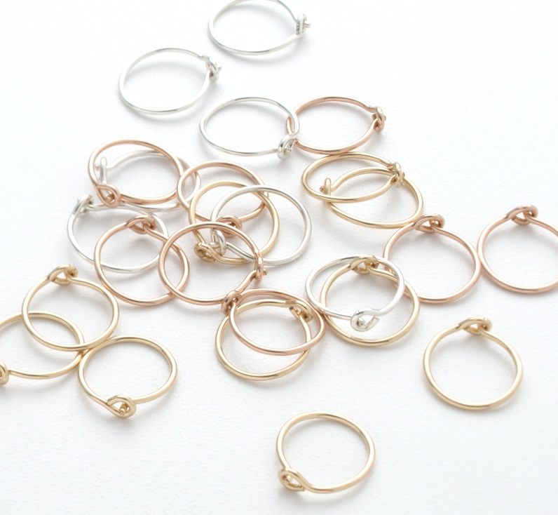 Tiny Hoops | Portland, Oregon | BluHour Jewelry