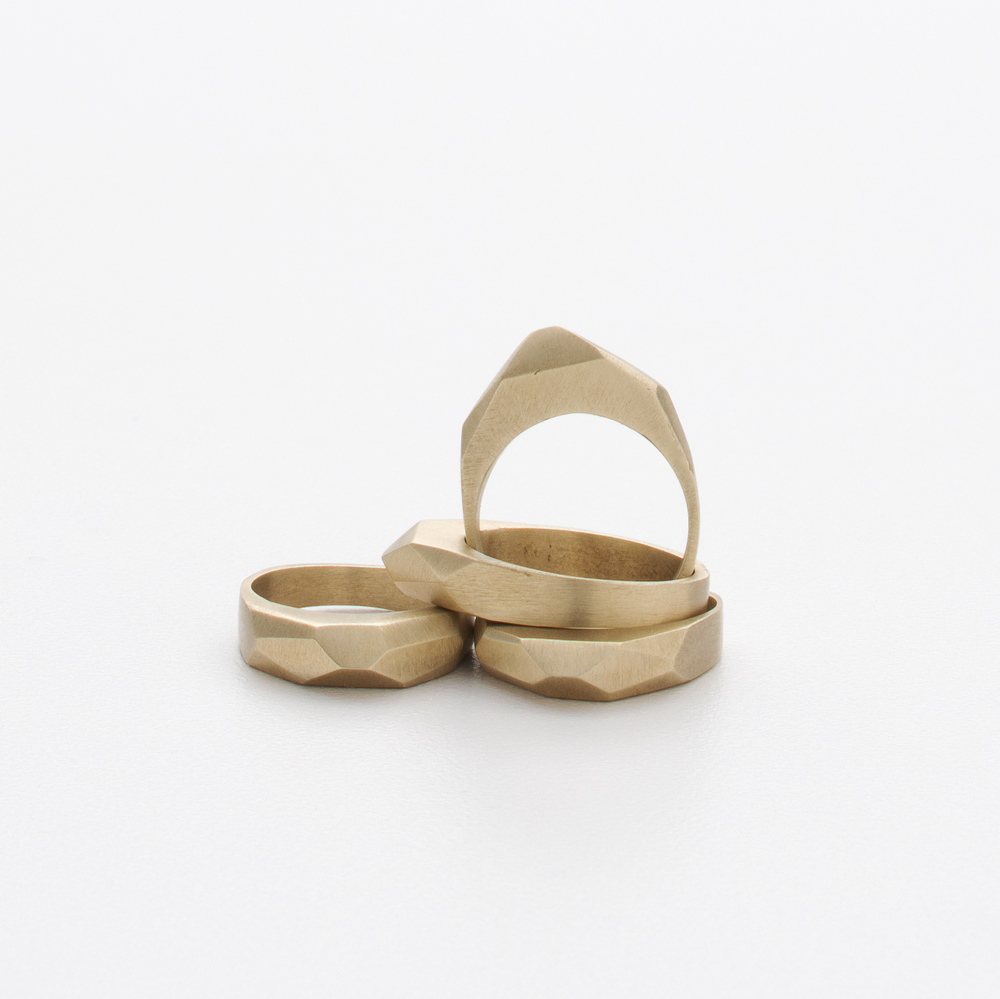 Arcadia Ring  | Solid Bronze and Sterling  | BluHour Jewelry