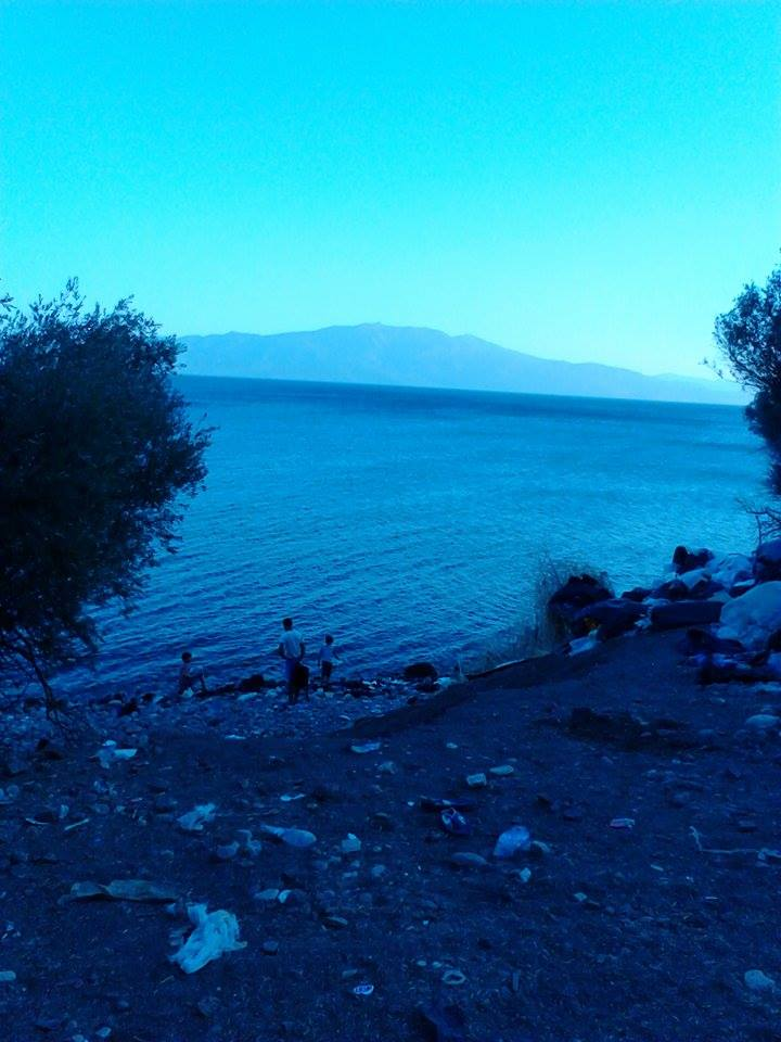 The coastline of the Aegean Sea in Izmir, Turkey. August 2015. (Photo: Zain Smesme)