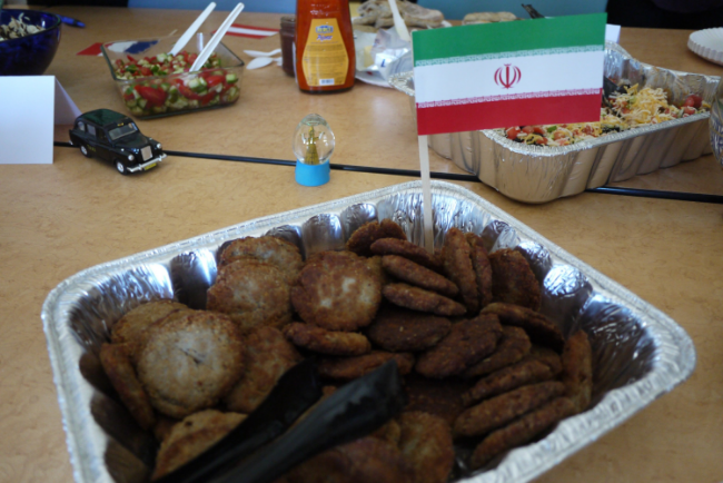 Ground beef patty of Iran.  (Photo: Monica Ma/ UCLA)