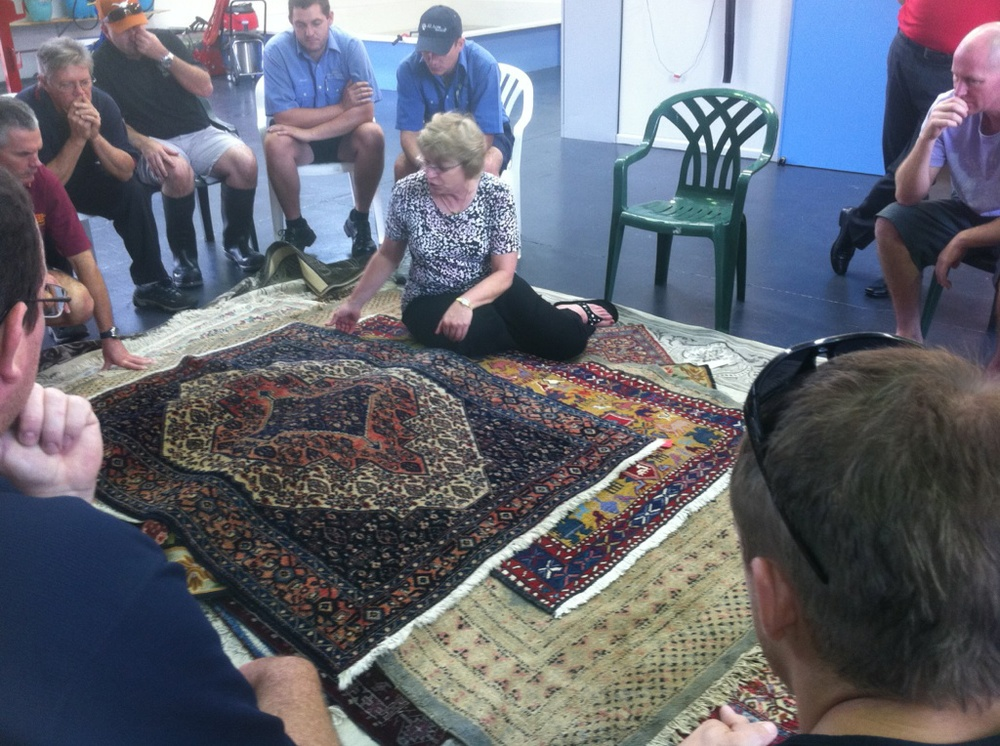 Ellen Amirkhan President of Oriental Rug Cleaning Co. Inc. in Dalas Texas, a business started by her Grandfather in 1911