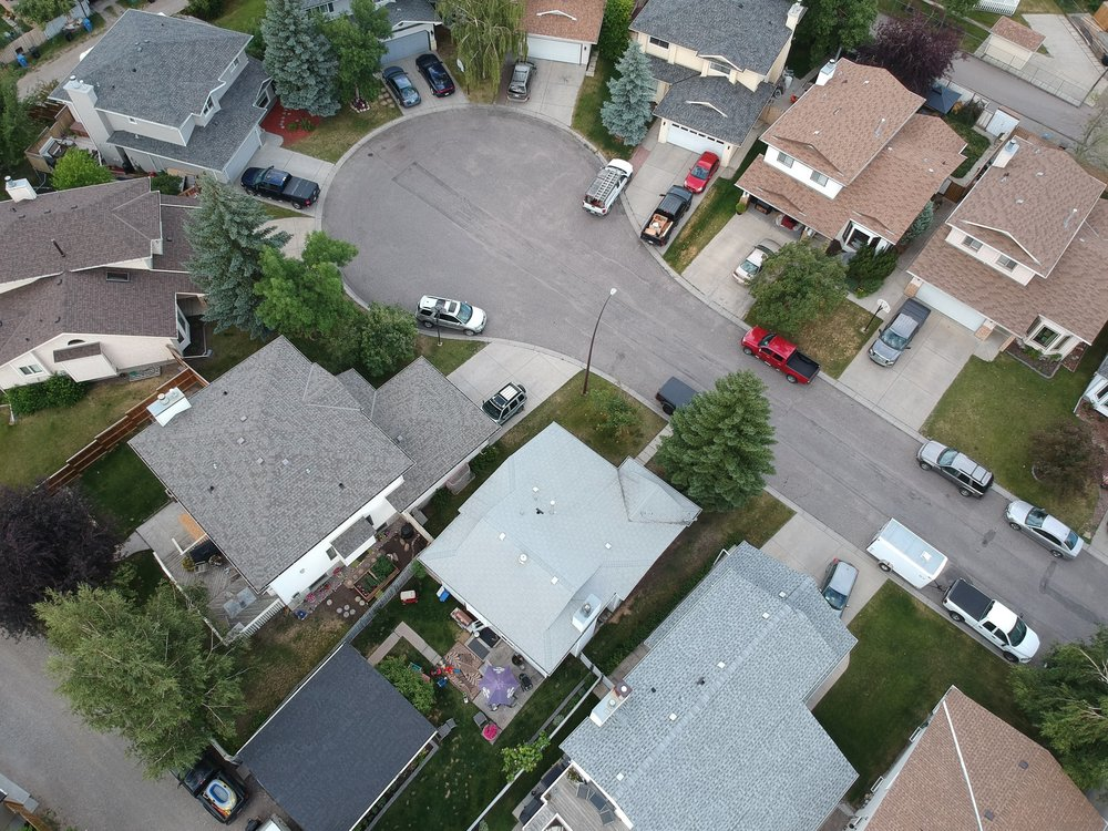 I have a long way to go in aerial photography but I'm enjoying the learning process. This is the street where I grew up. I'm really interested in how a simple change in elevation made a familiar place brand new again.