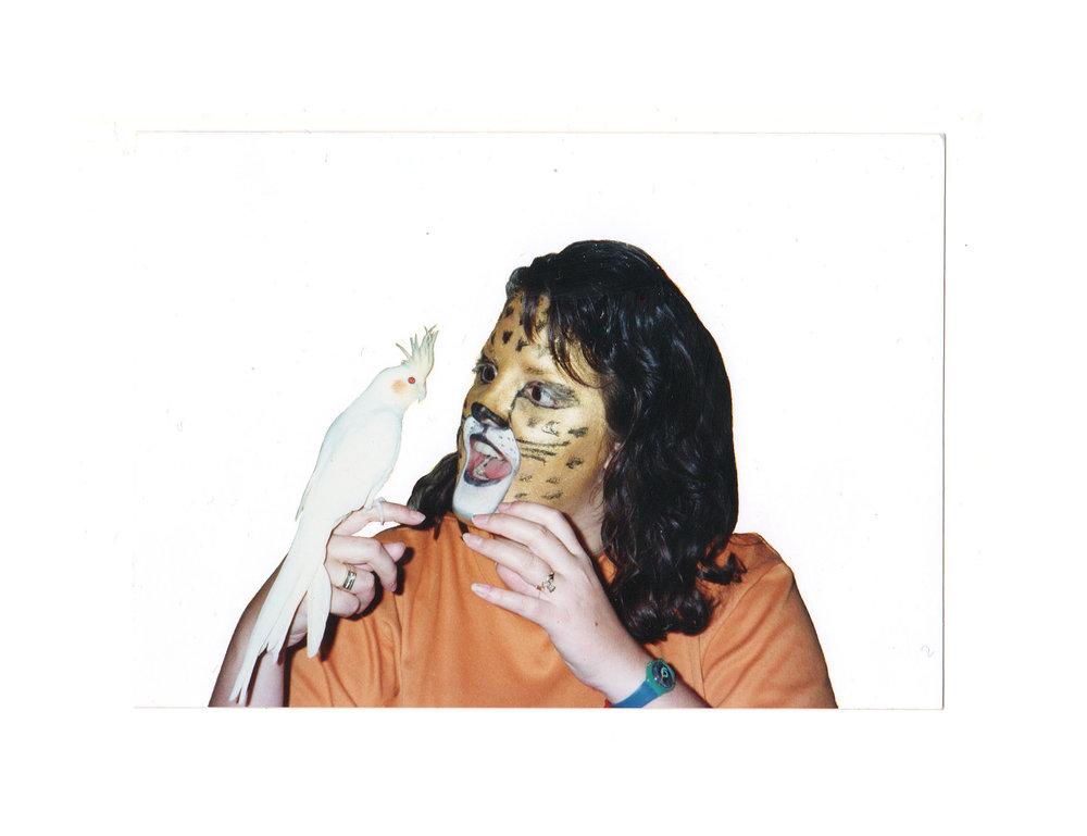 Cat Lady with Bird