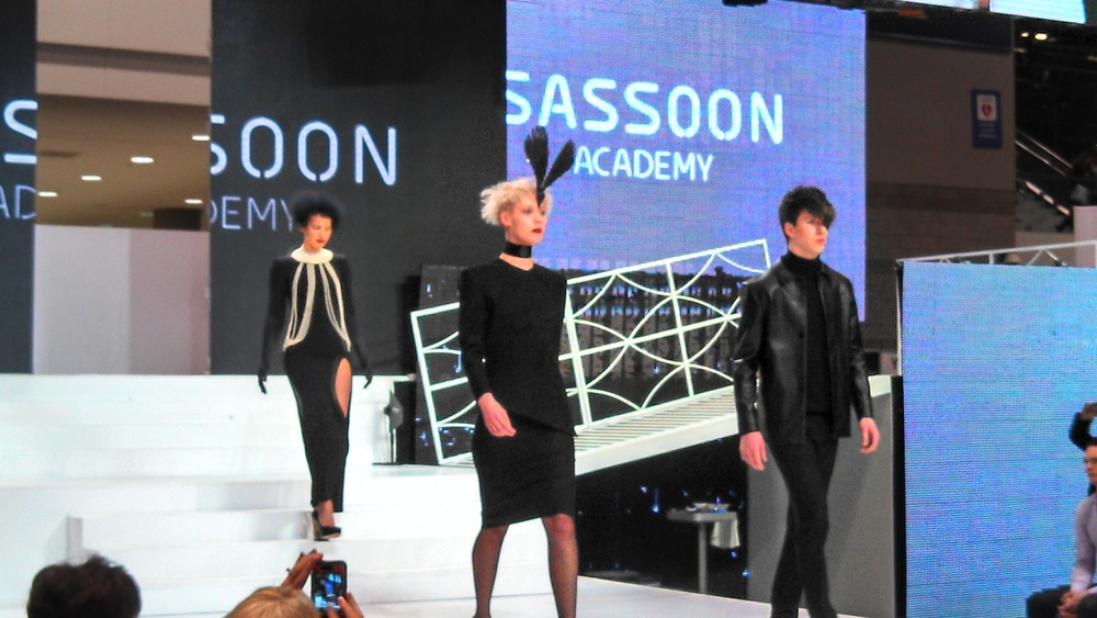 This is the Vidal Sassoon Academy runway. There so much going on, I was sure where to look! Kind of crazy hair cuts and colors, but always fun to watch!3.jpg