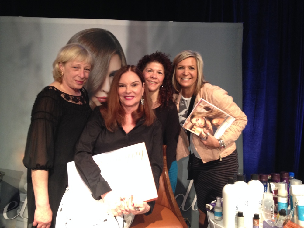 Anci and the team with renowned hair color expert, Beth Minardi.