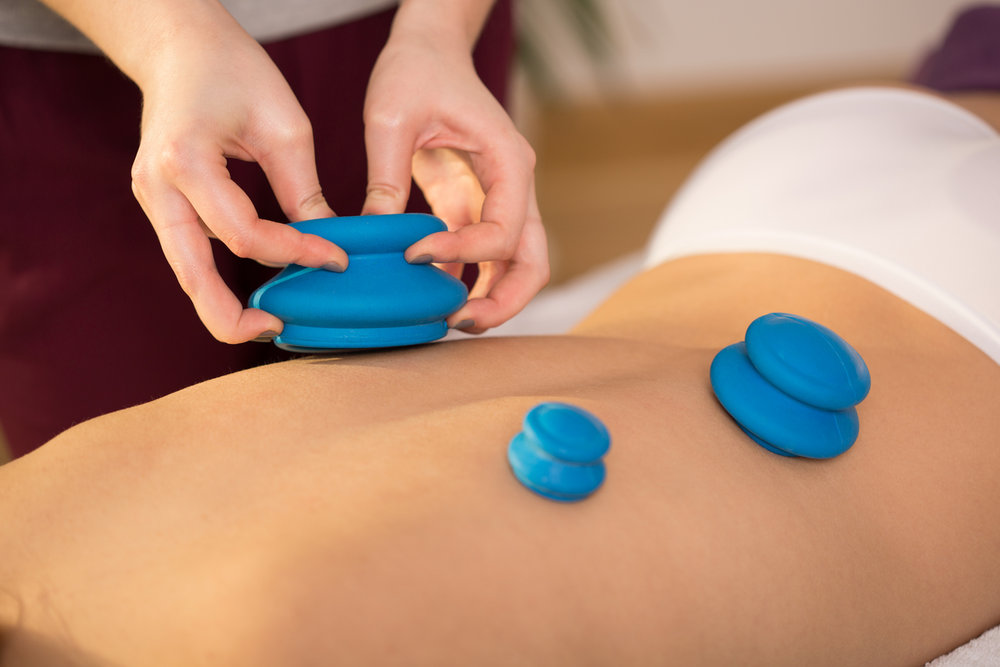 cupping massage therapy at TOMORROWS Salon and Spa