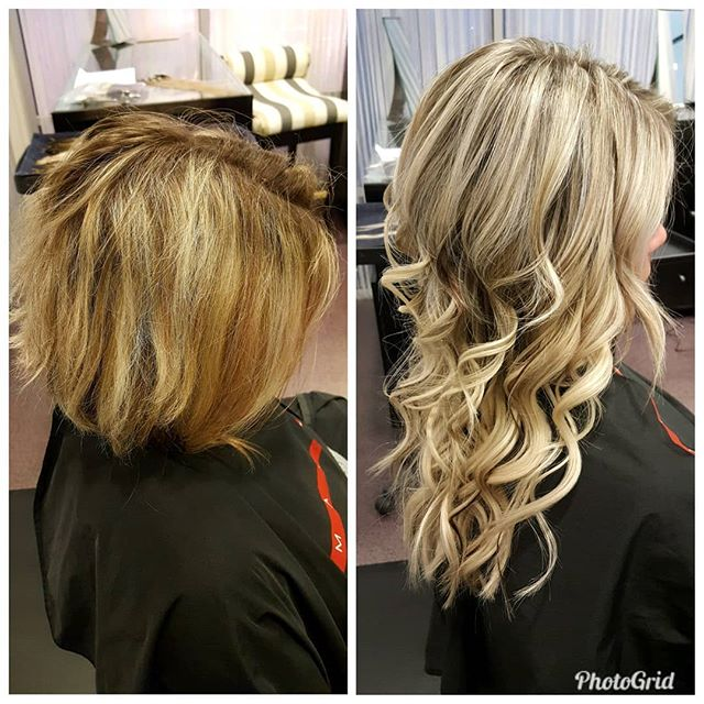 Major transformation! Full head of #fusion #hairextensions and color done by @miss_danielle_schultz  cut by @katebyrnes_hair  Come see what our team of hair extension specialists can do for you!  #clevelandhairsalon #clevelandhair #hanzo #hanzoartist #rockyriver #masterextensionist #oligopro #oligoprofessional #goldwell #behindthechair #modernsalon #scenemagazine #clescene