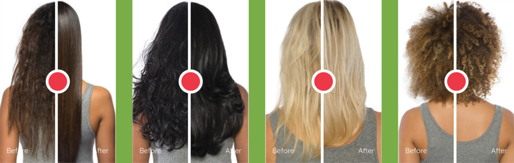Straight, smooth, no frizz or natural curl treatments