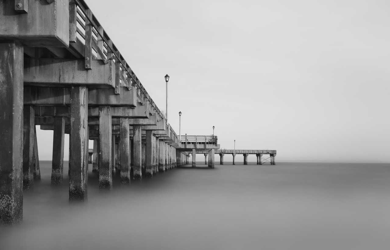 This pier was full of people, but the long exposure made them almost invisible.
