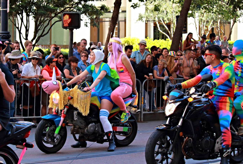 """Lol, we were the Ladies of Ooo. Moto was dressed as Lady Rainicorn, I was Fionna, and Liz was Princess Bubblegum. All from """"Adventure Time."""""""