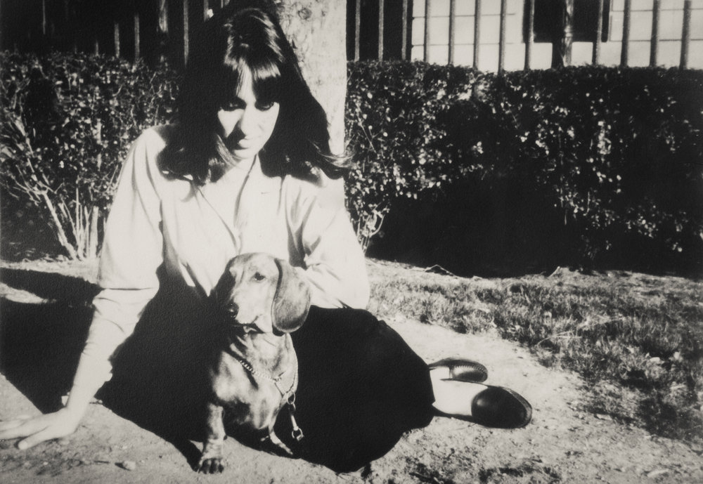 My aunt with one of her first doxies.
