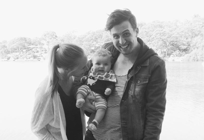 Sam and Matt with their little boy, Harper.