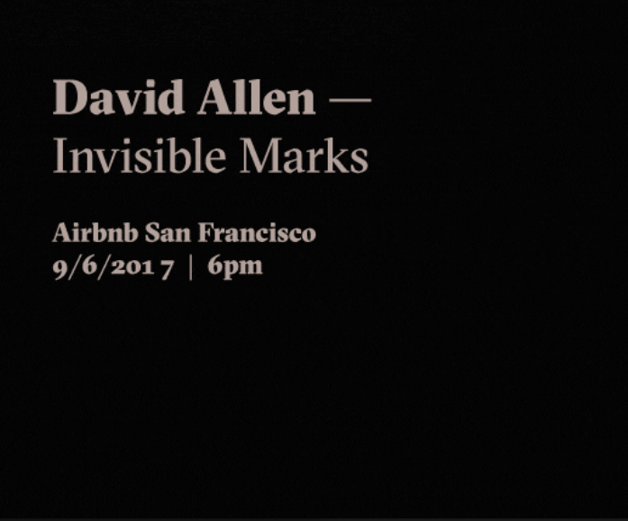 Invisible Marks
