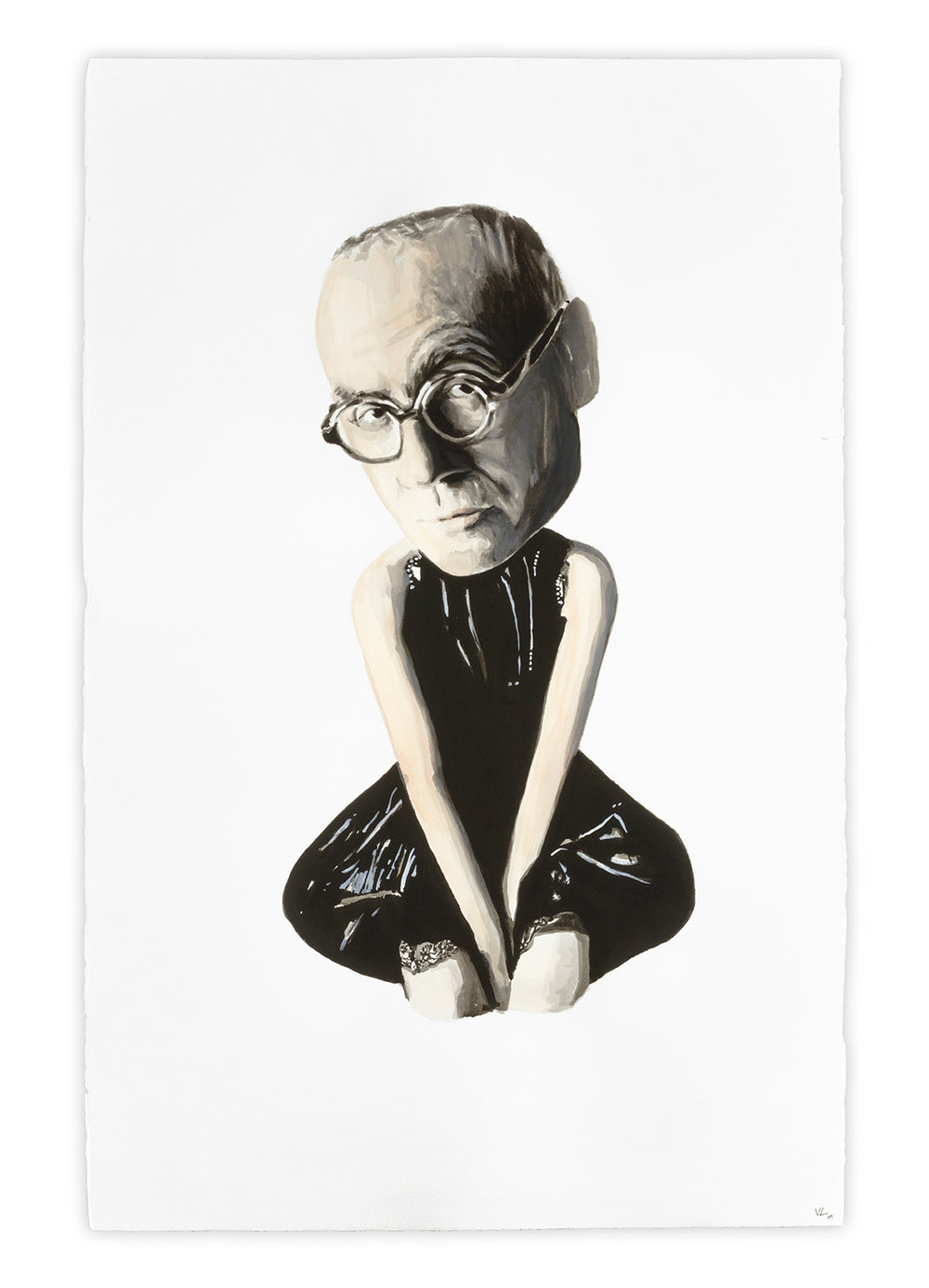 The Critic   Vanessa Lodigiani | Indian Ink and gouache on Arches paper | 102x66 cm | New York 2010