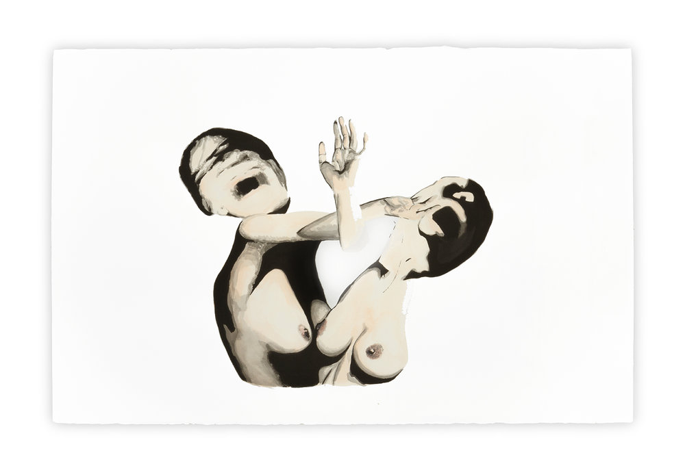 Ego    Vanessa Lodigiani | Indian Ink and gouache on Arches paper | 102x66 cm | New York 2010