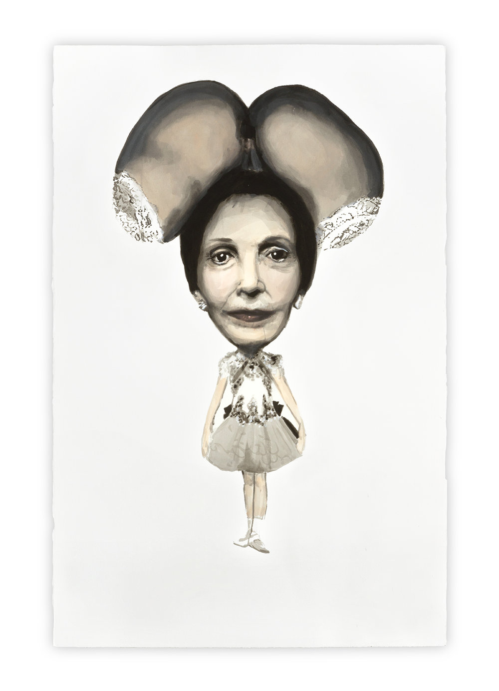 Minnie   Vanessa Lodigiani | Indian Ink and gouache on Arches paper | 102x66 cm | New York 2010