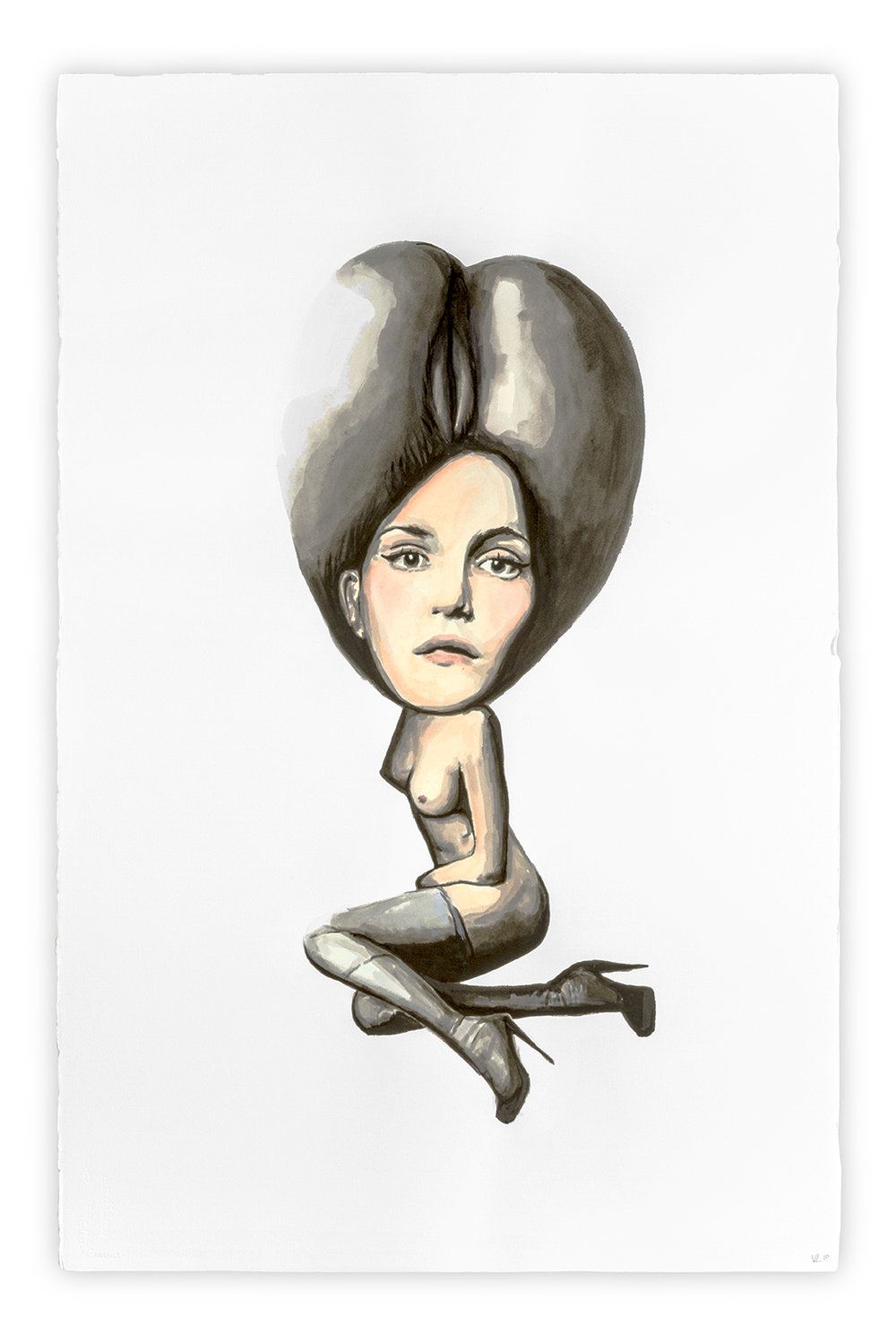 Preciosilla   Vanessa Lodigiani | Indian Ink and gouache on Arches paper | 102x66 cm | New York 2010