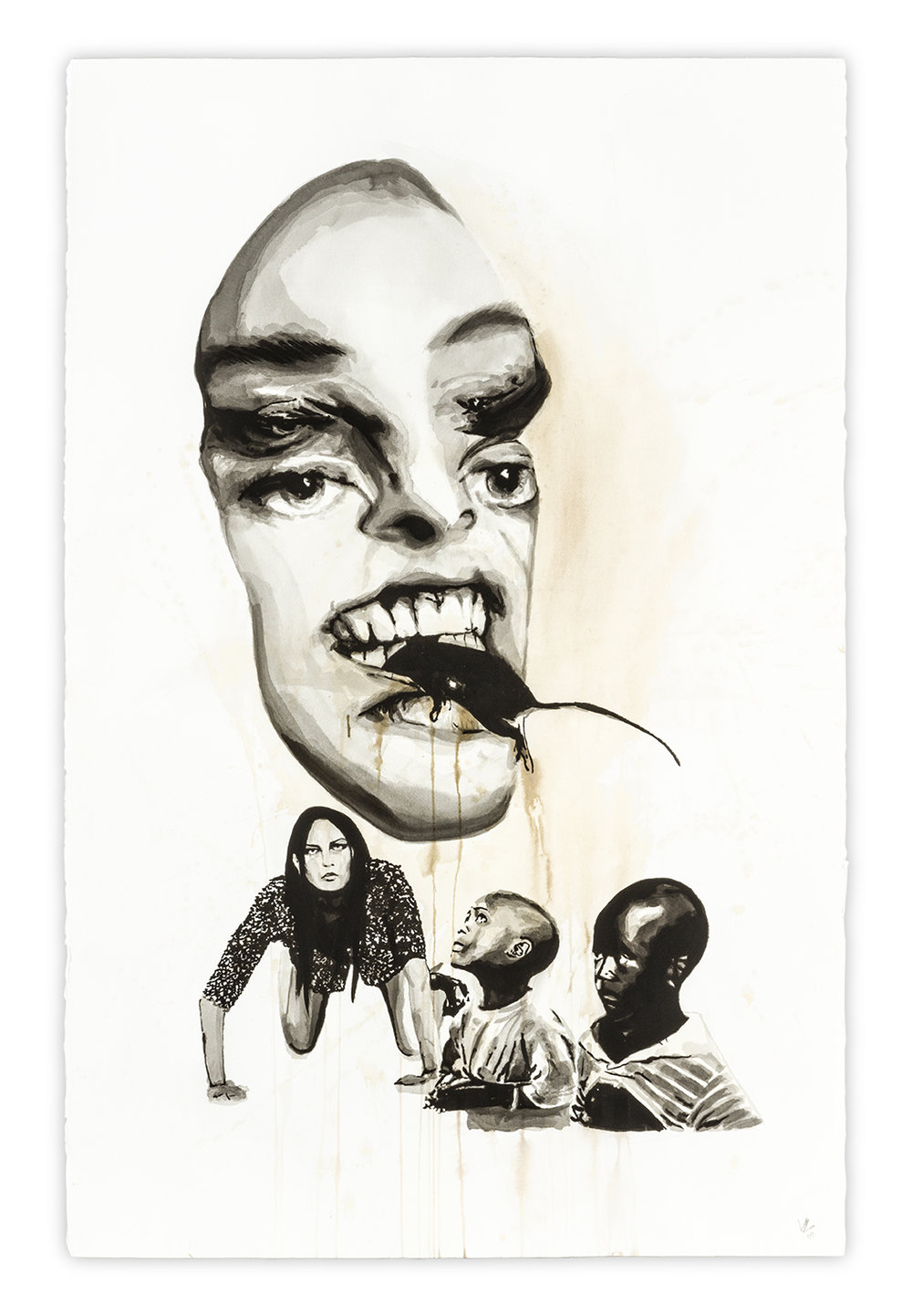 Merciless   Vanessa Lodigiani | Indian Ink and gouache on Arches paper | 102x66 cm | New York 2010