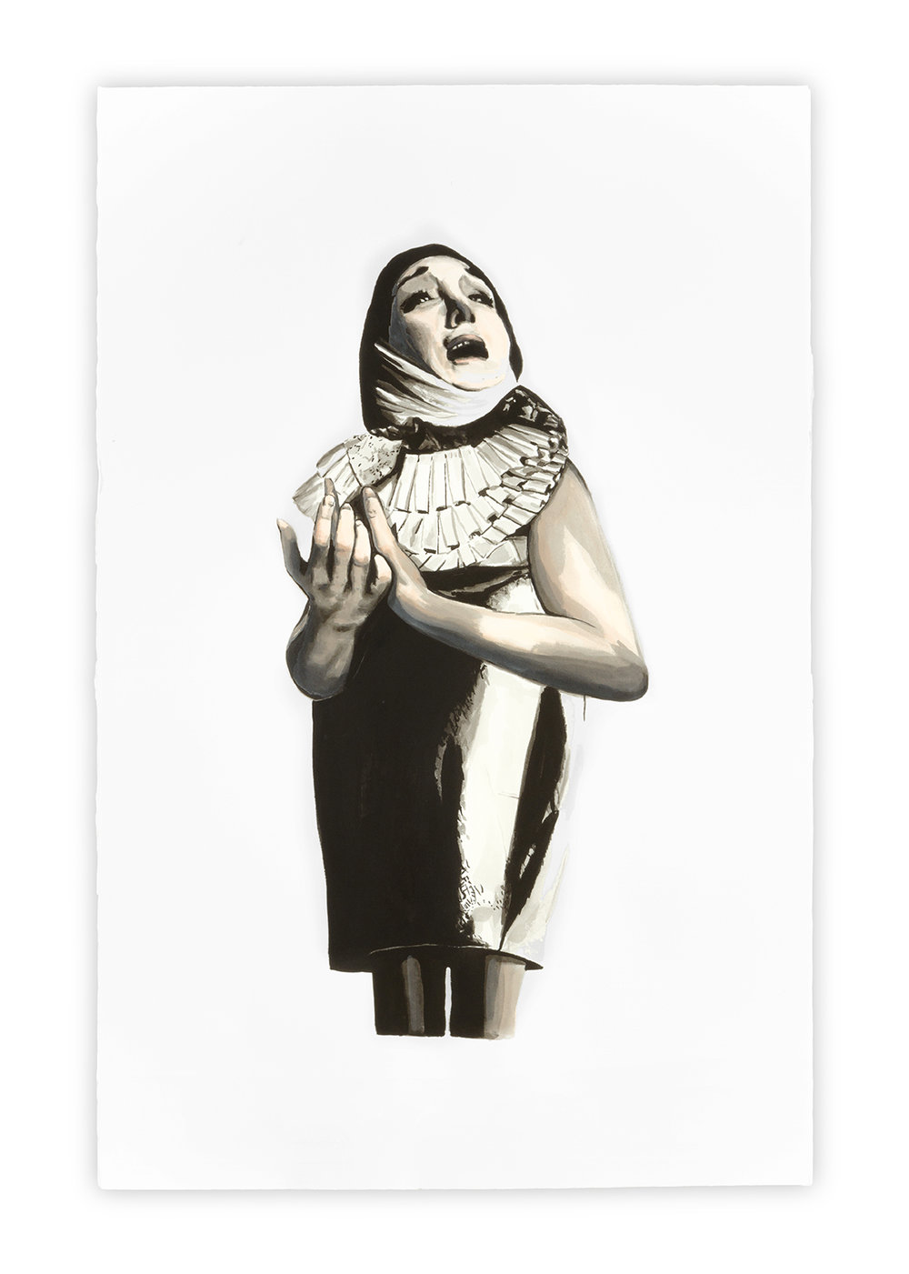 Mater Dolorosa   Vanessa Lodigiani | Indian Ink and gouache on Arches paper | 102x66 cm | New York 2010