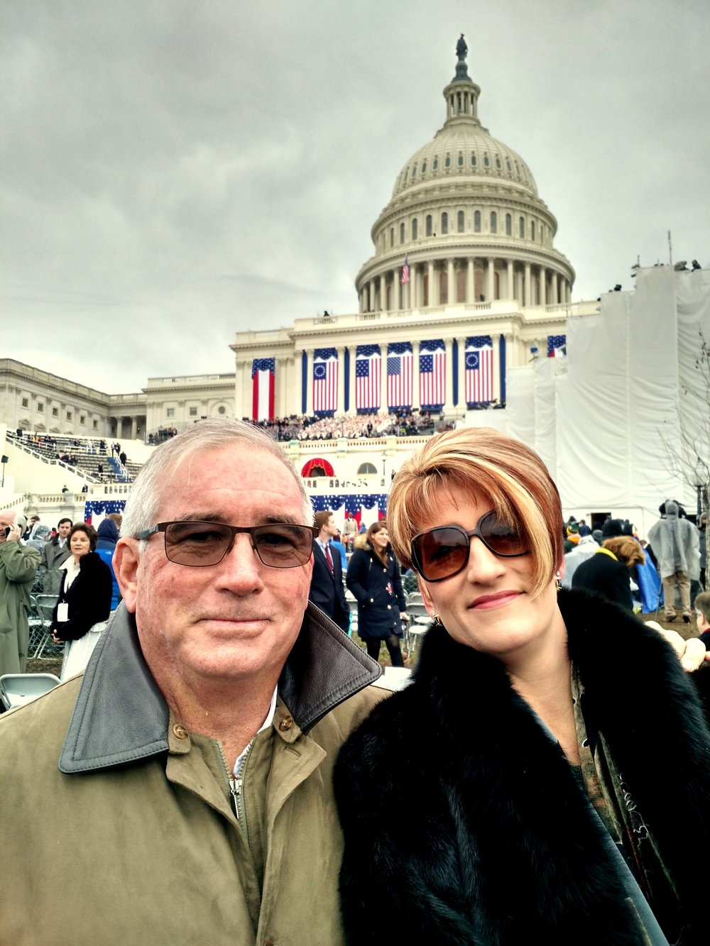 We are here at the Inauguration of President Trump
