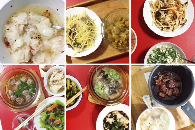 Mother's home cooking -- after eating at hundreds of restaurants in China, nothing is comparable to mom's.