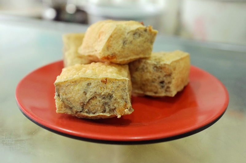 Stinky Tofu -- a fermented tofu that is a popular street food in China. You can smell the pungent aromas from a mile away.