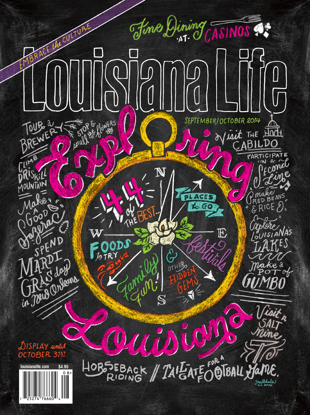 cover of Lousiana Life Magazine sept/oct 2014