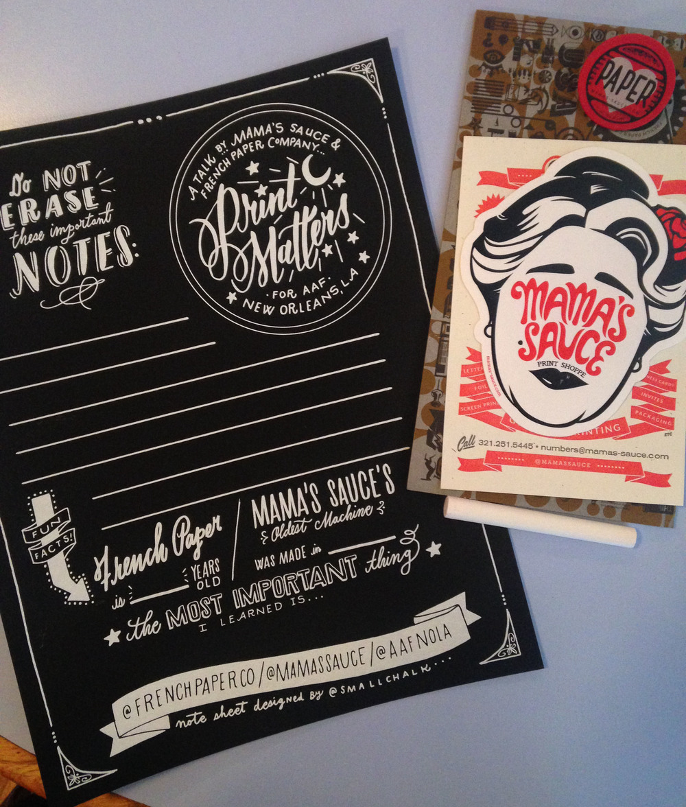 Print Matters with Mamas Sauce and French Paper Co.