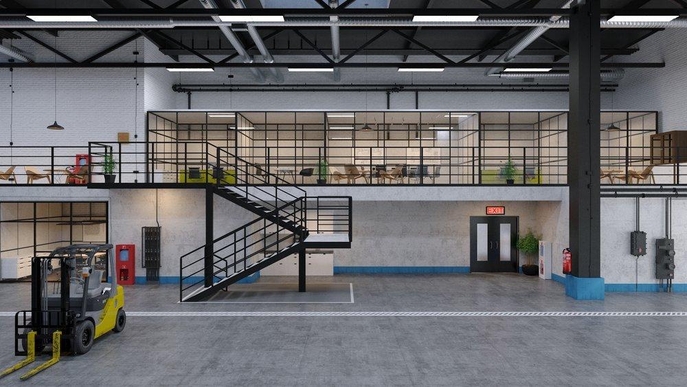 Warehouse 3D Rendering