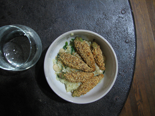 butter bean risotto with nut-crusted okra.jpg