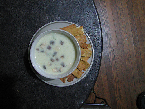 creamy cauliflower soup with chickpea crackers.jpg