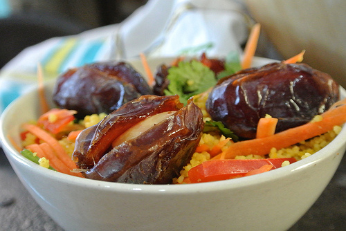 sunny citrus couscous salad with stuffed dates detail.jpg