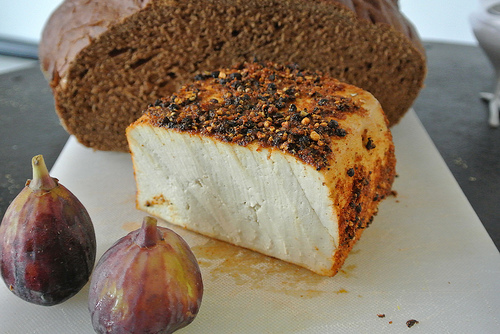 spiced tofu-fig-tahini mustard sandwich cutting board detail.jpg