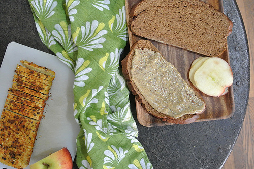 spiced tempeh-apple-almond-mustard sandwich table.jpg