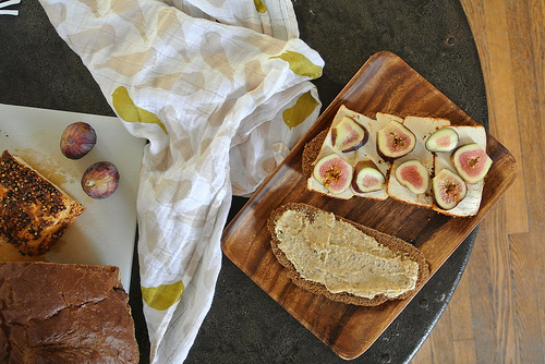 spiced tofu-fig-tahini mustard sandwich table.jpg