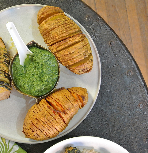 curried hasselback potato table.jpg