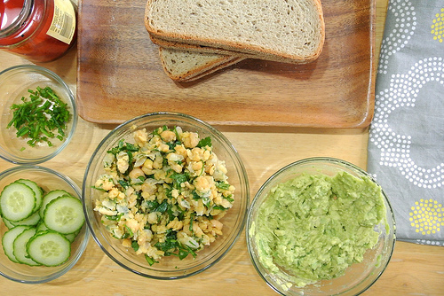 dead simple five-layer chickpea salad sandwich ingredients.jpg