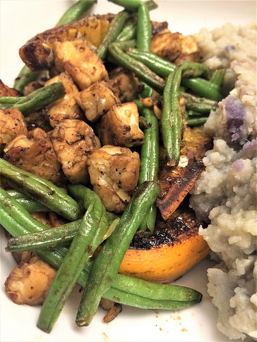 balsamic tempeh oranges and haricots verts detail.jpg