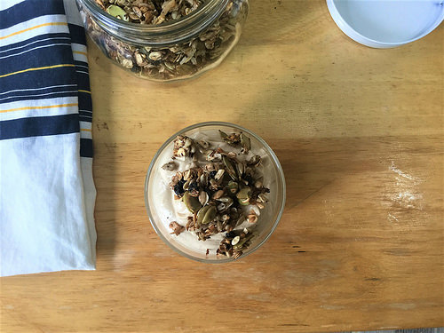 blueberry lemon and thyme granola with tofu mousse.jpg