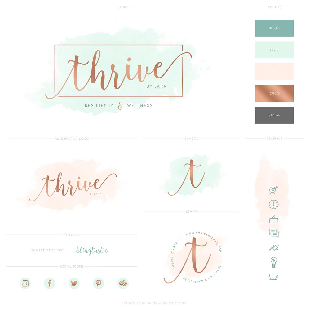 Thrive Brand Design Logo Design